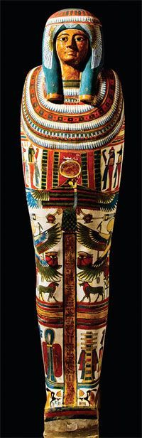 Egypt The mummy case of Meresamun, who worked as a musician priestess in the temple of Amun at Karnak, ca. 800 B.C.