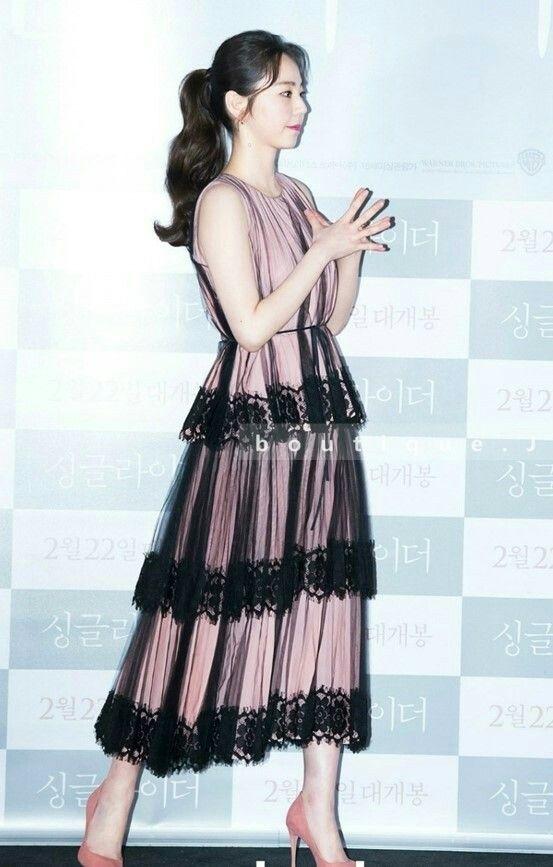 소희/ 쉬폰 레이스 드레스