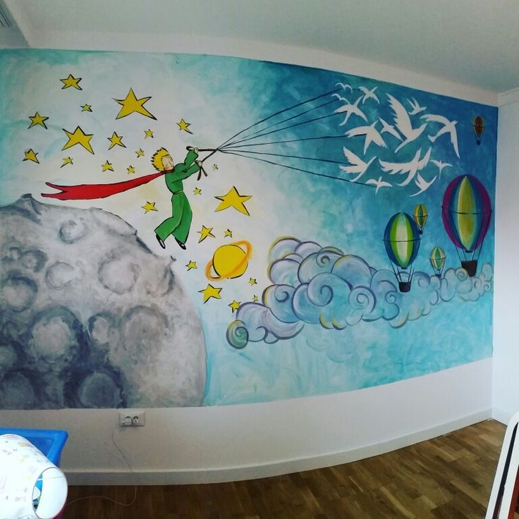 "My mural painting ""Little prince "" -Madonia  Art"