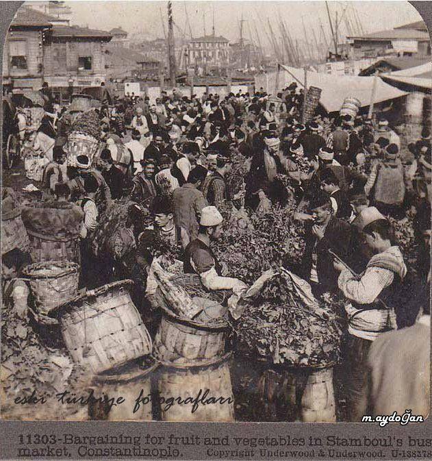 Sirkeci, Meyve, Sebze Pazarı, 1912