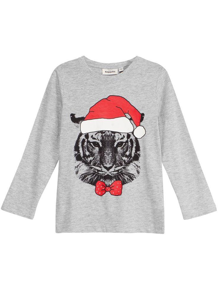 Långärmad t-shirt med tryck - Barn - KappAhl