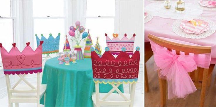Декор стульев для детского дня рождения