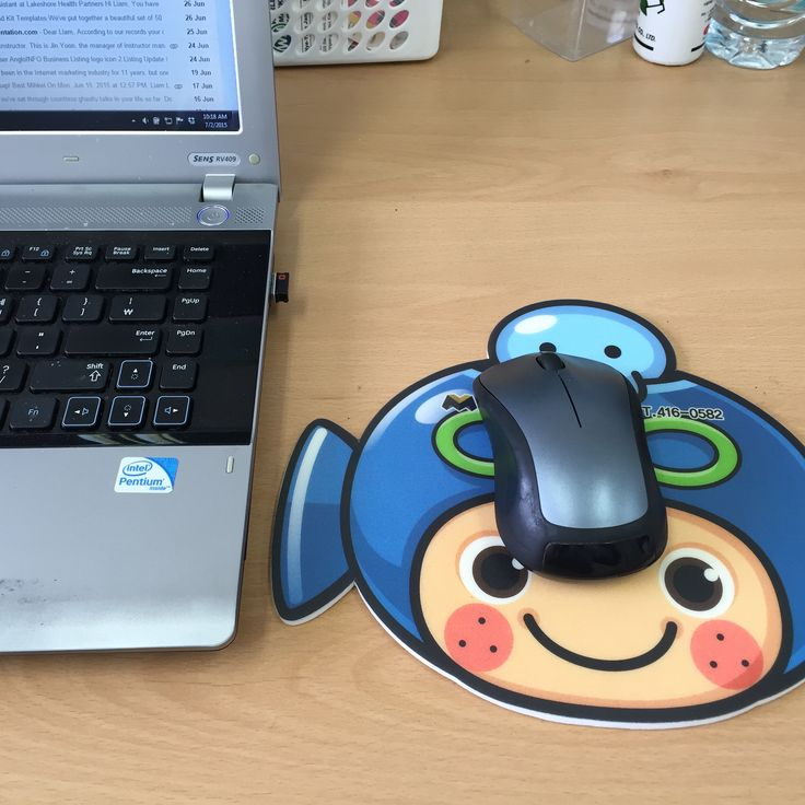 A #gift from my daughter - a happy mouse pad