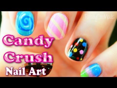 Candy Crush Inspired Nail Art   TotallyCoolNails