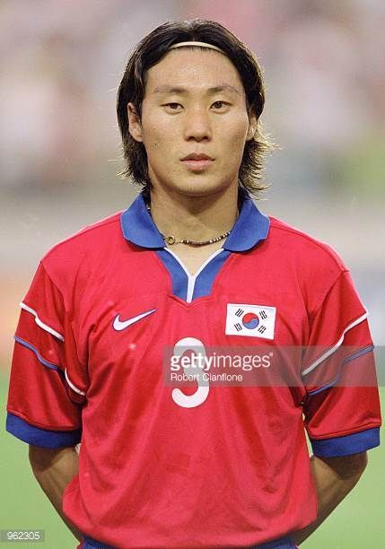 Portrait of Choi Sung Yong of Korea Republic before the FIFA Confederations Cup 2001 match against Australia played at the Suwon World Cup Stadium in...