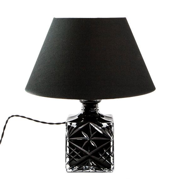 Black Crystal Lamp by TygerDesign on Etsy