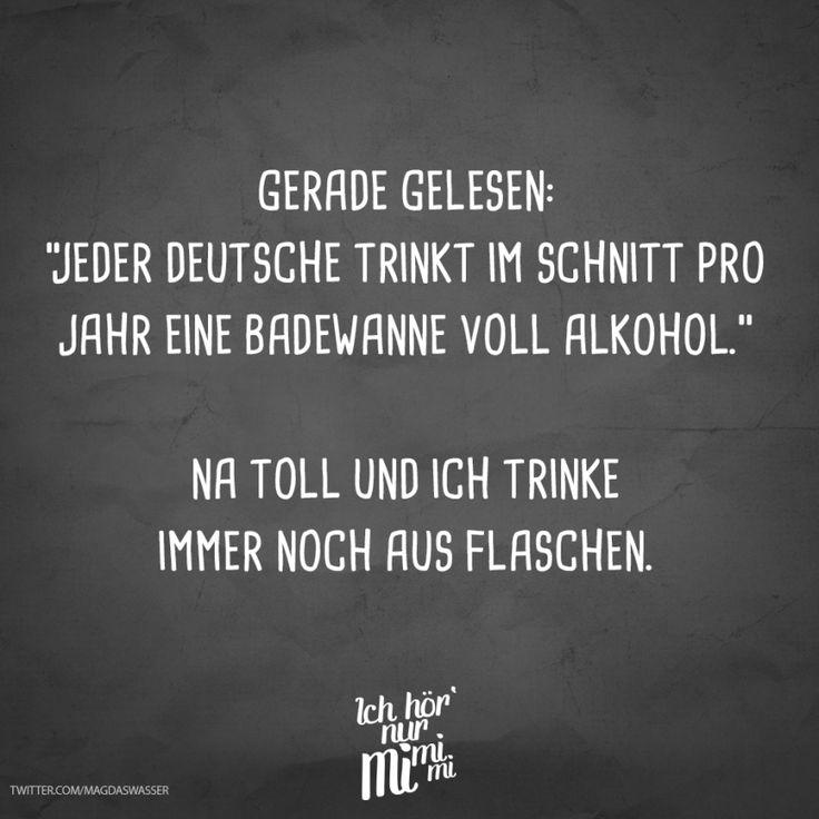 """Visual Statements® Gerade gelesen: """"Jeder Deutsche trinkt im Schnitt pro Jahr …"""