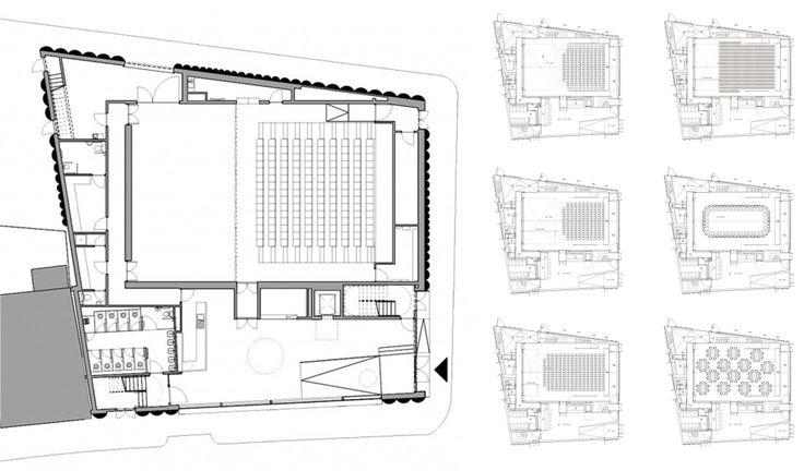 Alison Brooks Architects _ Quarterhouse Performing Arts & Business Centre _ Folkestone _ Plans
