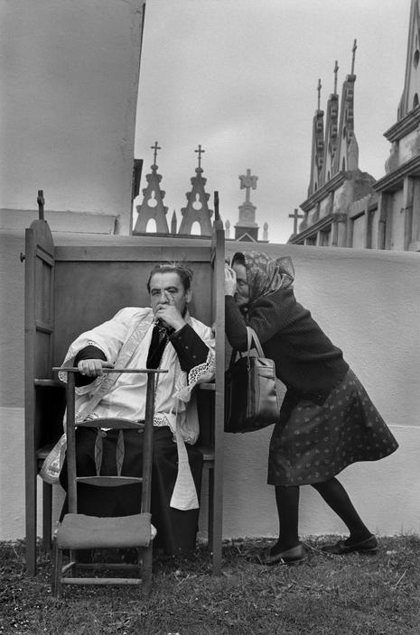 Spain. The confession. Pilgrimage of Nuestra Senora de los Milagros de Saavedra, Galicia,1980 // Cristina Garcia Rodero (Spain Hidden, 1989)