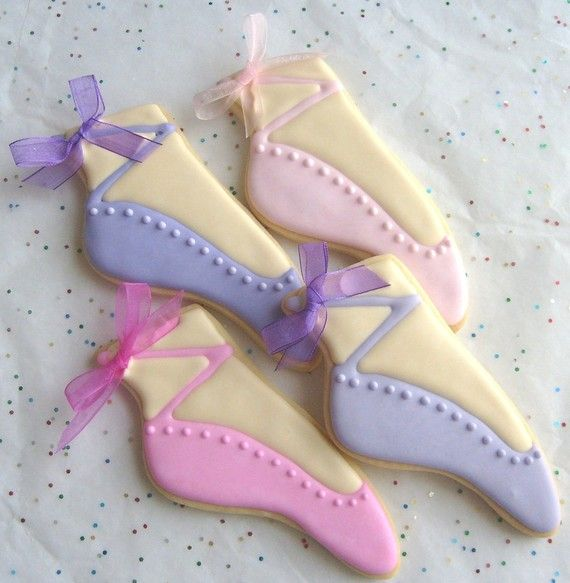 Ballet Slipper Cookie Favors  Ballet Decorated by lorisplace, $36.99