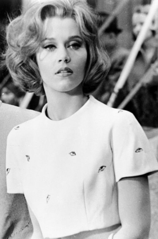 """Jane Fonda in """"Sunday In New York"""" wearing the eyeball top designed by Orry Kelly"""