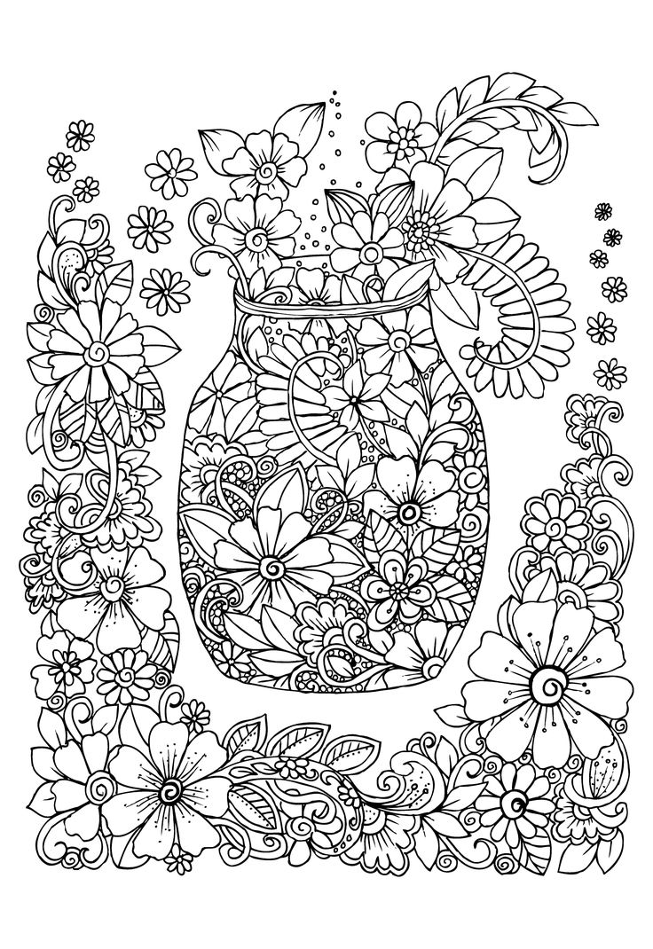 get 20 coloring pages of flowers ideas on pinterest without