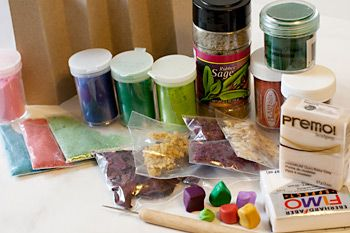 How to make Faux Stone - discussion of the many inclusions you can use.#Polymer #Clay #Tutorials