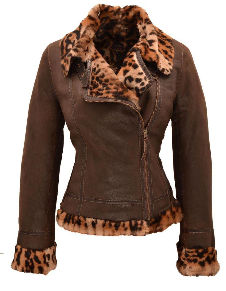 Veste mouton femme marron - Cuirs Guignard