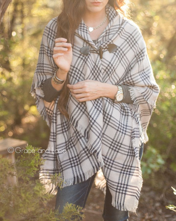 Blanket Scarf/Toggle Poncho