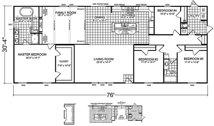 2 Bedroom Mobile Home Floor Plans 4 bedrooms 3 bathrooms, mobile home | bedroom double wide mobile