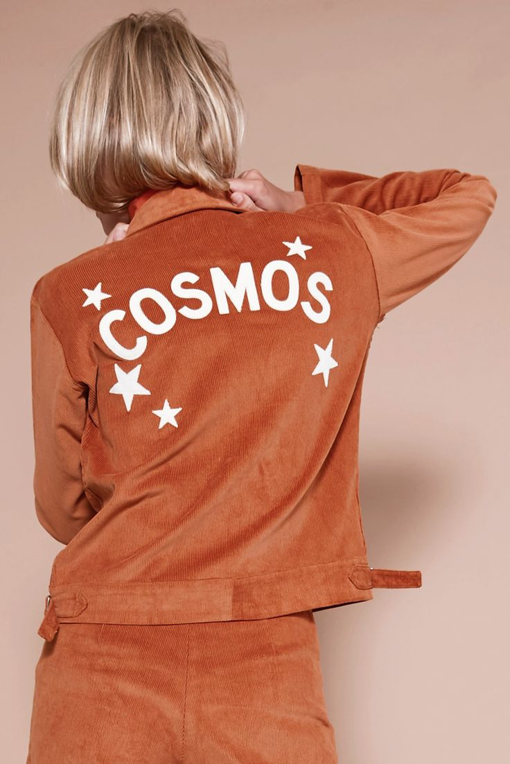 For the star-crossed lovers. 1 universe, 9planets, 204countries, 809 islands, 7 seas, and I met you. Introducing the Cosmos corduroy postal jacket. Now in 3 c