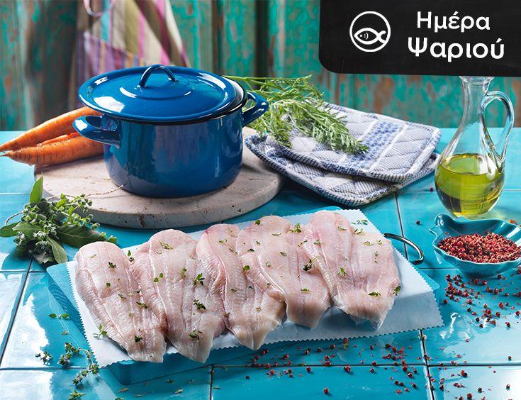 Ημέρα ψαριού σήμερα και απολαμβάνουμε φρέσκια γλώσσα σε εξαιρετική τιμή, με χόρτα αντίδια ελληνικά!