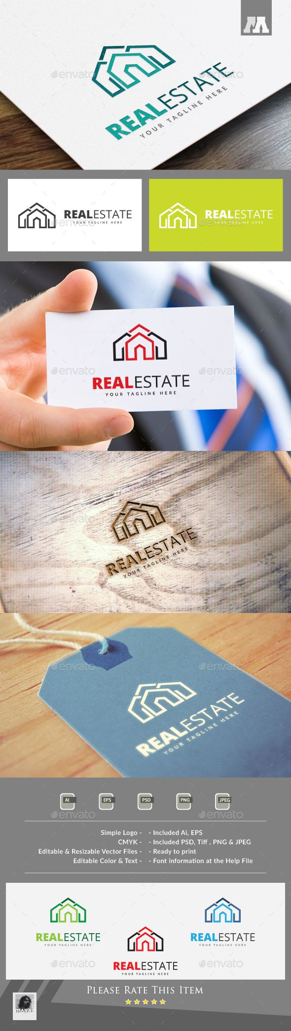 Real Estate Logo Design Template Vector #logotype Download it here: http://graphicriver.net/item/real-estate-logo/13728655?s_rank=677?ref=nexion