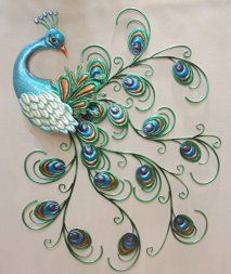 I love outdoor metal wall art. It is an amazing way to decorate your backyard or outdoor space. I love the look of metal outdoor art especially when you have pretty metal flowers, butterflies, suns, moons and all kinds of trendy shapes, colors and designs. #outdoordecor #decor   CHSGJY Pretty Peacock Wall Art Decor Hanging Metal Sculpture Large Colorful Bird 30inches