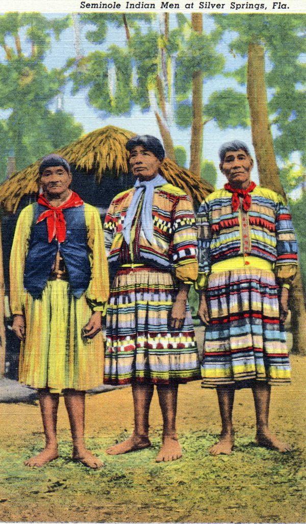 159030 Seminole Indians Native American Clothing