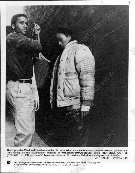 "1989 PHIL MORRIS ""Mission Impossible"" ABC Television Press Photo"