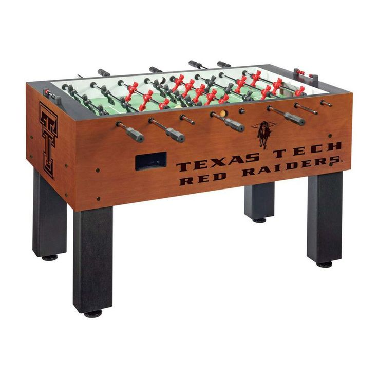 Texas Tech Red Raiders Laser Engraved Foosball Table Soccer