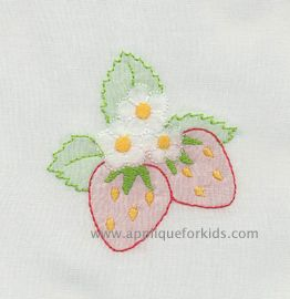 I love these sweet shadow work by machine embroidery strawberries! So easy!