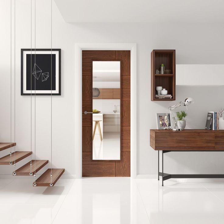 XL - PFGWALRAV30 Glazed Internal Walnut Pre-finished Ravenna - Internal Doors