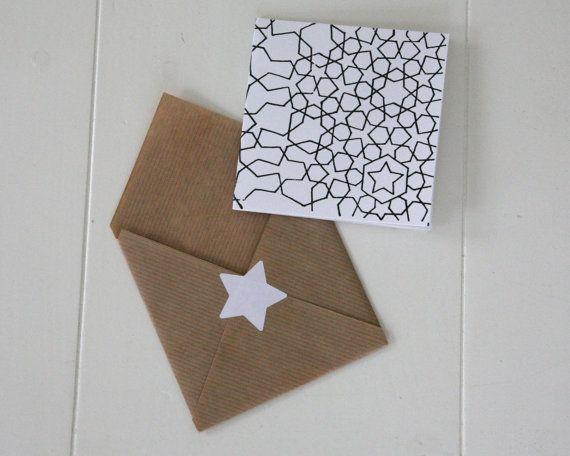 You're a star! Om iemand succes te wensen, of leuk ter decoratie. wenskaart  ster  zwart van TienZes op Etsy