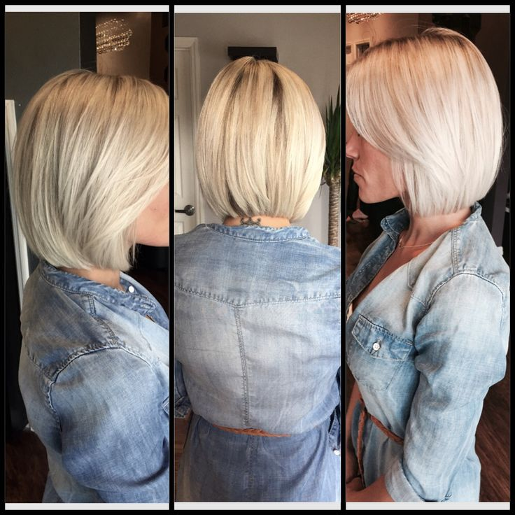 Platinum Blonde Long Bob Lob Haircut Platinum Blonde