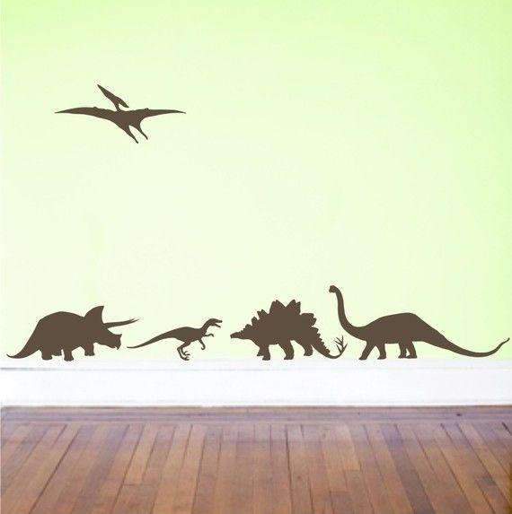 Dinosaurs Vinyl Decals  wall decal  boy room  Set of by loladecor, $20.00