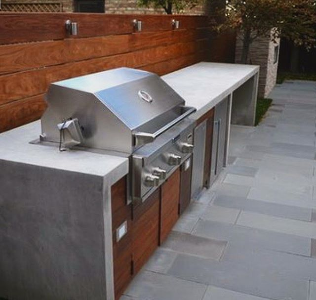 This Concrete Barbecue Counter Is A Modern And Clean Approach To