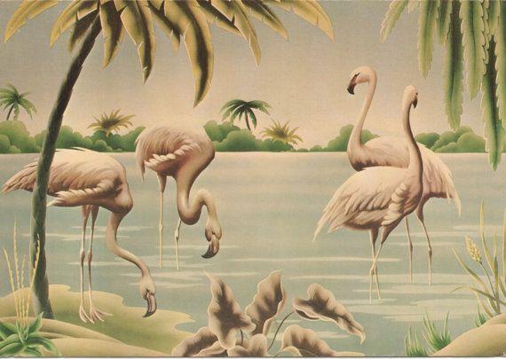 Vintage Turner Flamingos Greeting Card 1975 By