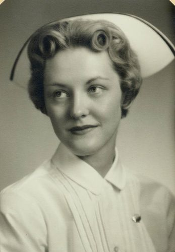 When nurses wore caps. My mom was an RN.  Their caps had the black velvet ribbon.