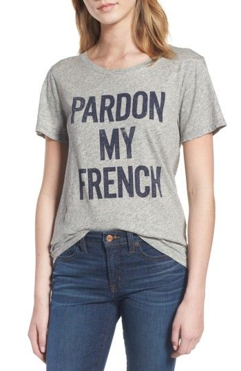 Free shipping and returns on J.Crew Pardon My French Graphic Tee at Nordstrom.com. This fun graphic T-shirt does all the talking for you.