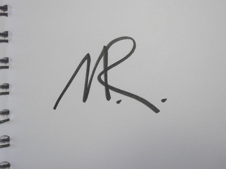 "One-line signature for ""M.R."". It can be used for ""Mr."", too."