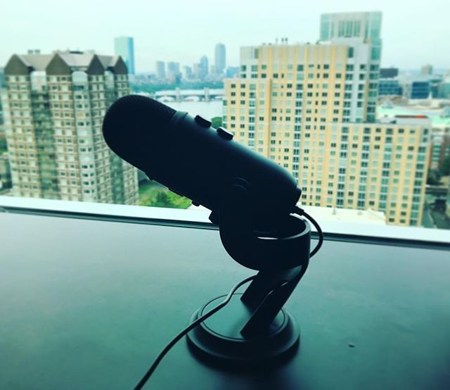 """""""Taz just got this sexy new Blue Yeti Mic (the blackout edition) because my microphone wasn't """"good enough quality."""" While I mock him for being pretentious and British, I'm excited to steal his shit. This mic is hot. 🙌😍 #podcasters"""" by @keara_palmay. #social #socialmarketing #semplicity #bebold #beawesome #getcreative #inspired #webdesign #winterfun #smallbiz #tech #facebook #socialmediatips #smm #socialmediastrategy #businessquotes #businessowner #instagramtips #leads #entrepreneurlife…"""