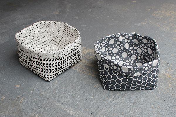 DIY.. Reversible Fabric Storage Bin. Easy afternoon project. www.haberdasheryfun. com blog has the full tutorial.