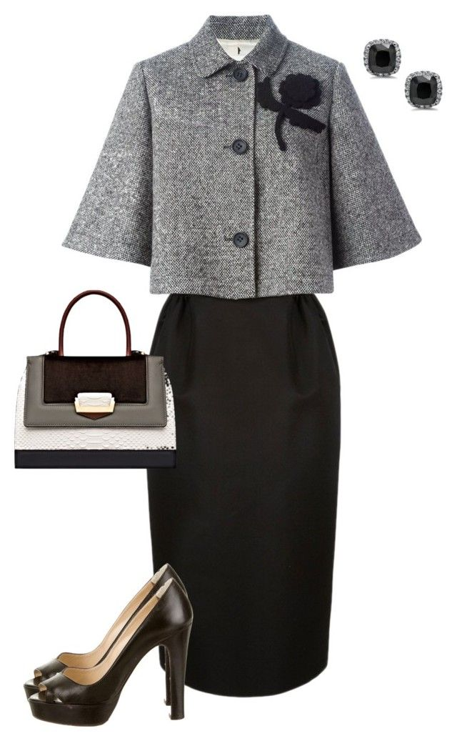 """Untitled #579"" by angela-vitello on Polyvore featuring RED Valentino, The Volon and Christian Louboutin"