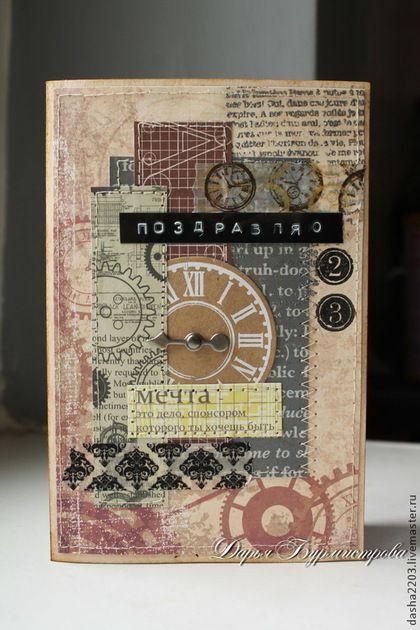 Открытки для мужчин, ручной работы. Ярмарка Мастеров - ручная работа Мужская стильная открытка к 23 февраля. Handmade.