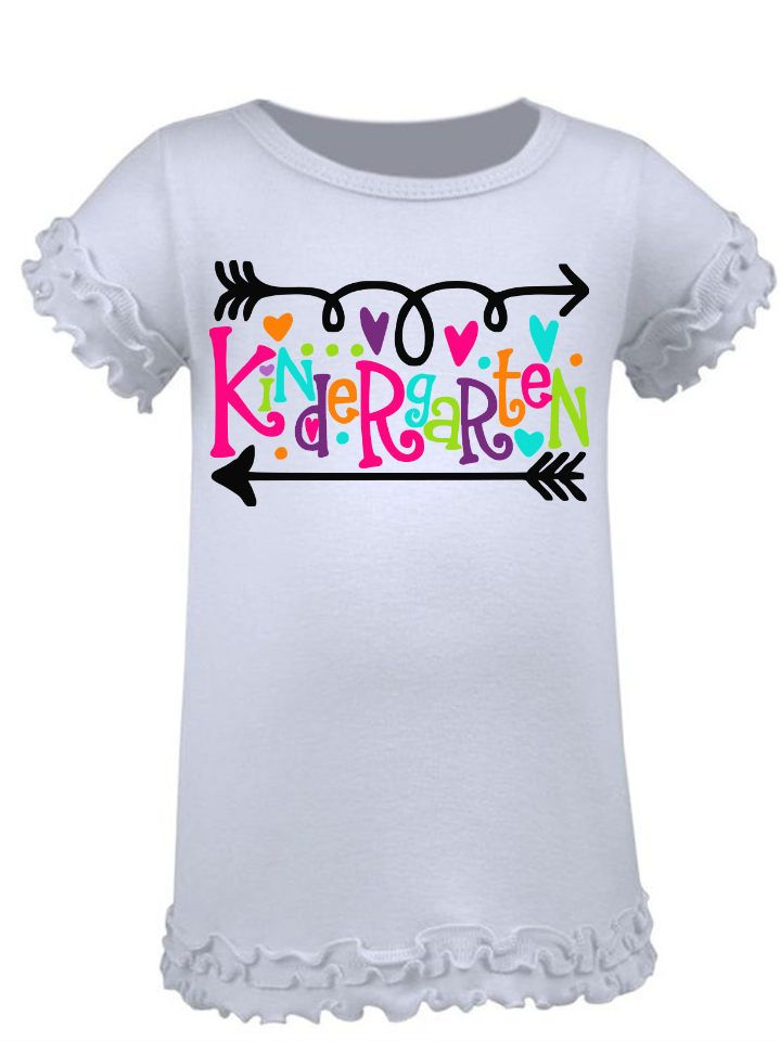 Kindergarten Shirt for Girls, kindergarten outfit, back to school shirt, first day of school, kindergarten shirt, 1st day of school by PrettyPrincessBowtiq on Etsy