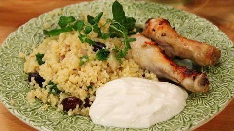 Kyckling med fänkål och bulgur