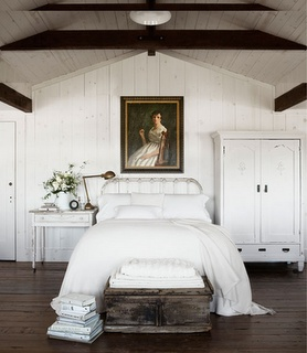 Love white with dark beams