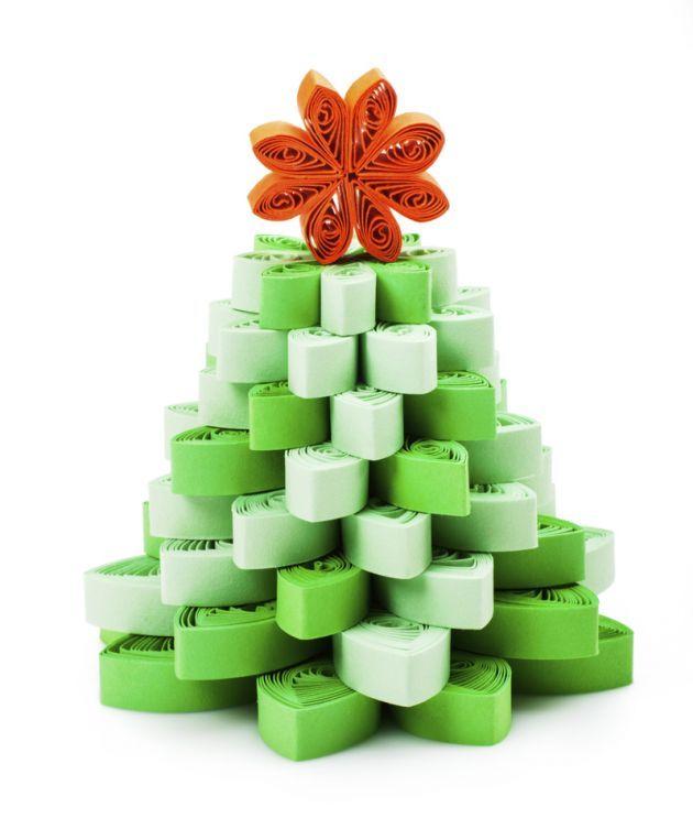 Arbol de navidad manualidades tips creatividad papel - Manualidades navidad papel ...