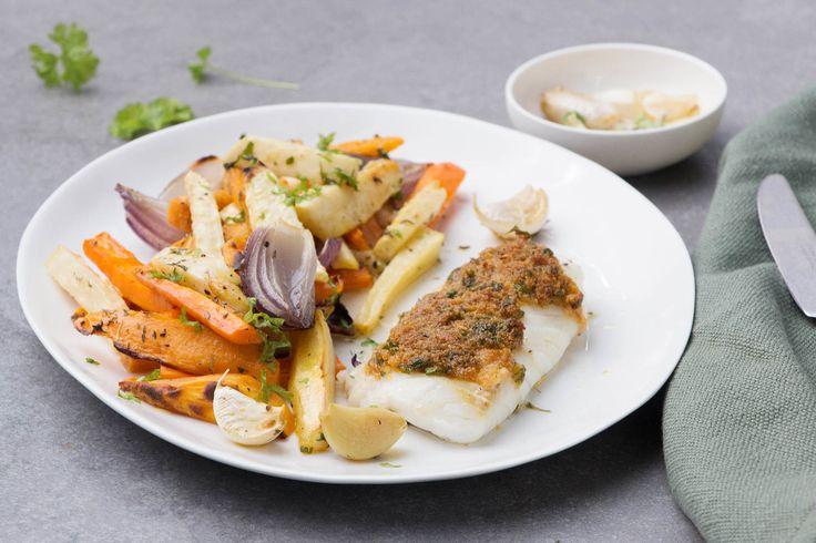 Pas beaucoup de temps, mais envie de déguster un plat préparé de vos blanches mains ? Essayez la sheetpan au cabillaud pané du Chef !