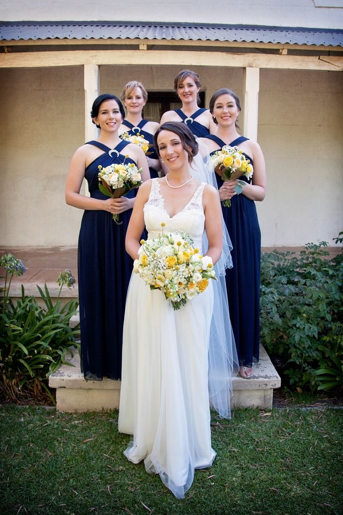#Rustic #Wedding #Yellow #Navy #Photography #Bridal_Party #Bridemaid