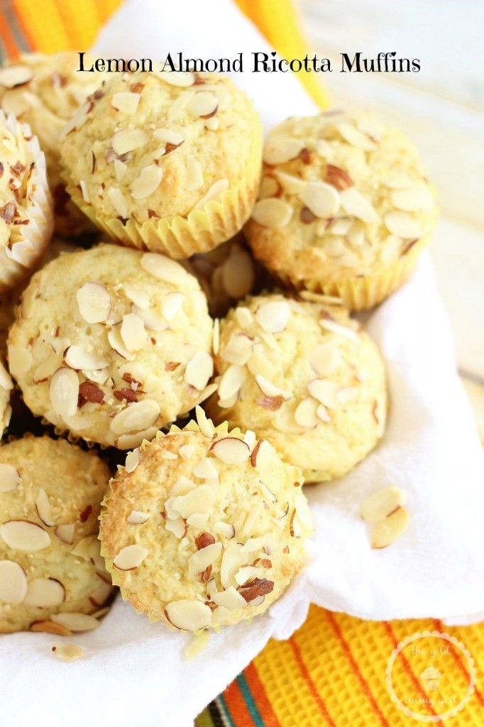 LEMON RICOTTA ALMOND MUFFINS - the MOST MOIST muffin I've ever had in my life! And sooo much flavor!