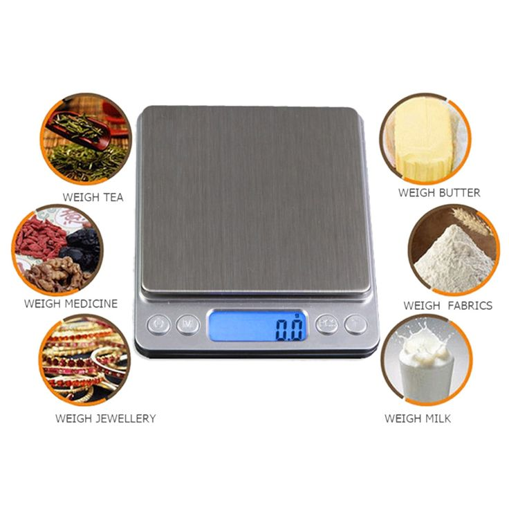 1000g x 0.1g LCD Digital Pocket Scale Precision Jewelry Weight Electronic Balance Scale Bascula lstainless steel platform g/oz/ #Affiliate