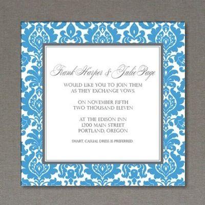 Invitation Template: Rococo Square 1